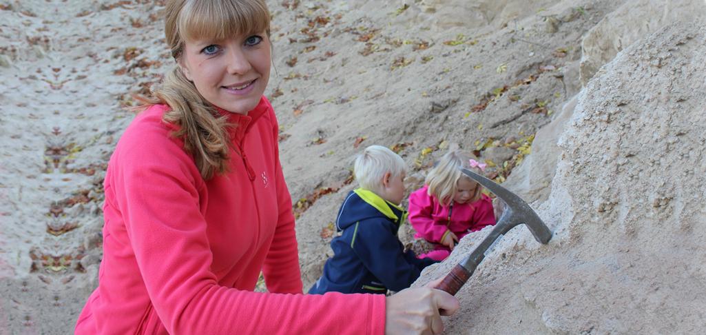 Årets geolog Elisabeth Einarsson. Foto: Stefan Einarsson.